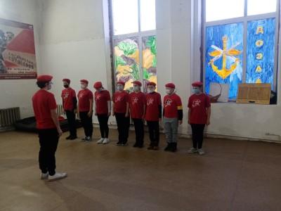 19 ноября в Доссаф, прошли занятия юнармейцев совместно с патриотическим центром
