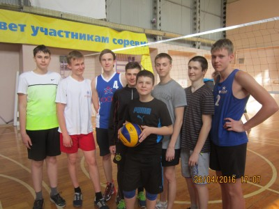 Победители городских соревнований по волейболу